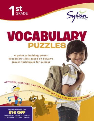 First Grade Vocabulary Puzzles (Sylvan Workbooks) (Sylvan Learning)