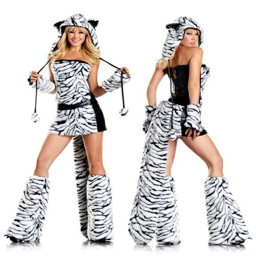 Be Wicked Tasty Tiger Costume, Black/White, Small/Medium