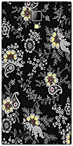 Snoogg black yellow pattern 2480 Designer Protective Back Case Cover For Micromax Canvas Express A99
