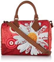 Desigual Bowling Tropicana Cross Body Bag,Strawberry Red,One Size