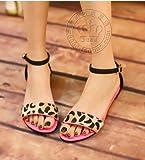 (フルールドリス)Fluer de lis ヒョウ柄ペタンコサンダルピンク ストラップ サンダル ウェッジソール 靴 シューズ 婦人靴 アパレル レディース ファッション 服 200-k1-6691