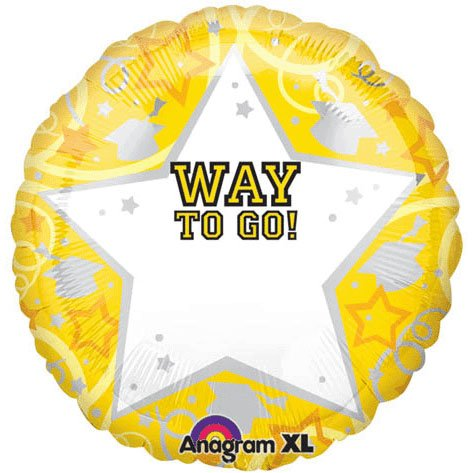 Graduation Yellow Personalized 22in Balloon