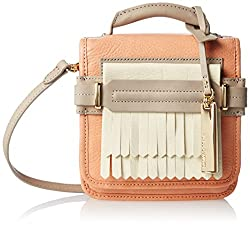 Vince Camuto Sofia Small Cross Body Bag, Papaya Punch/Ivor/Driftwood, One Size