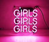 "New Beer Neon Sign Pink Girls 9"" x 9"" for Home Bedroom Pub Hotel Beach Recreational Game Room Decor"