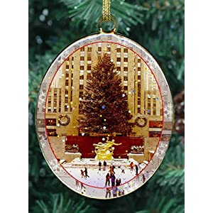 New York City Christmas Ornament - Rockefeller Center Skating Rink