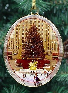 #!Cheap New York City Christmas Ornament - Rockefeller Center Skating Rink