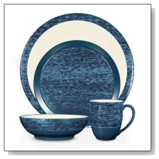 Noritake Elements Marine 4-Piece Place Setting