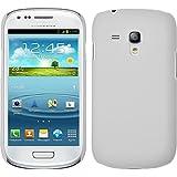 PhoneNatic Samsung Galaxy S3 Mini H�lle wei� gummiert Hard-case f�r Galaxy S3 Mini + Schutzfolien