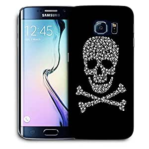 Snoogg Danger Zone Skull Designer Protective Back Case Cover For SAMSUNG GALAXY S6 EDGE