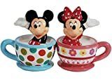 Disney's Mickey and Minnie in Teacups Salt and Pepper Shakers Westland Giftware