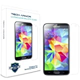 Tech Armor Samsung Galaxy S5 Premium Ballistic Glass Screen Protector - Protect Your Screen from Scratches and Drops - Maximize Your Resale Value - 99.99% Clarity and Touchscreen Accuracy