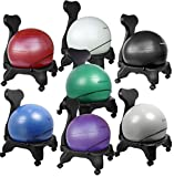 """Isokinetics Inc. Brand Balance Exercise Ball Chair - Choice of Ball Color - Exclusive: Office size 60mm/2.5"""" wheels (versus 50mm/2"""" wheels used on other brands) - w/Ball Measuring Tape & Starter Pump"""