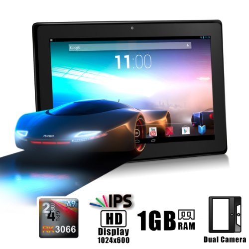"KingPad 7"" Google Android 4.1 Dual Core IPS Tablet MID PC, Rockchips RK3066 Dual Core Cortex A9 CPU up to 1.6GHz, 1Gb RAM, 8Gb HDD, HD IPS LED Multi-Touch Screen 1024×600, Front Camera + Rear Camera, Google Play Pre-Installed, HDMI 1080P Output, Skype Video Calling, Netflix, Flash Supported, AKASO R7X [By TabletExpress]"