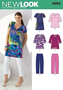 Look Sewing Pattern 6983 - Misses' Separates Sizes: A (10-12-14-16-18-20-22) by New Look