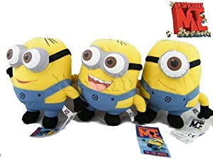 Despicable Me Minion Plush Toy 3D 9 inch Eye Stuffed Animal soft toys set of three