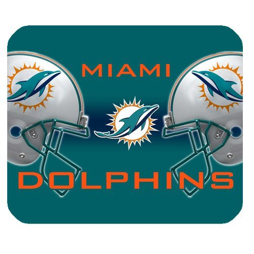 Christmas Gifts NFL Miami Dolphins High Quality Printing Square Mouse Pad Design Your Own Computer Mousepad For Christmas Gifts at Amazon.com