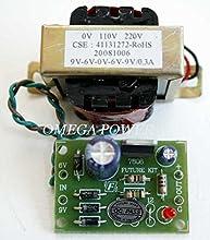 AC/DC 110VAC / 220VAC Regulator Power Supply DC 6V-9V-12V 300mA Transformer kit Electronic Circuit Kit : FA801