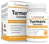 Turmeric Curcumin 1300mg Supplement with Bioperine - 100% Money Back Guarantee - Highest Potency 95% Standardized Curcuminoids - Premium Anti-Inflammatory & Joint Support - 60 Vegetable Capsules