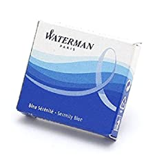 WATERMAN Lot de 10 Etuis de 6 Cartouches d'encre Standard Bleu effaçable