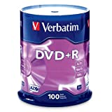 Verbatim 4.7 GB up to16x Branded Recordable Disc DVD+R 100 Disc Spindle 95098