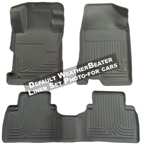 Husky Liners 98562 Grey Custom Fit Front and Second Seat Floor Liner Set