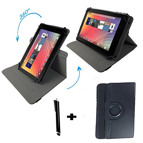 "Huawei MediaPad 10 FHD 3G 25,4 cm / 10.1 "" Tablet Pc Tasche mit 360° grad Drehfunktion - 10 Zoll Schwarz 360"