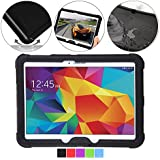 Samsung Galaxy Tab 4 10.1 Case - Poetic Samsung Galaxy Tab 4 10.1 Case [Turtle Skin Series] - [Corner/Bumper Protection] [Grip] [Sound-Amplification] Protective Silicone Case for Samsung Galaxy Tab 4 10.1 Black (3 Year Manufacturer Warranty From Poetic)