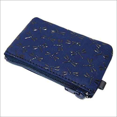 印傳屋 印伝 小銭入れ 財布 コインケース 1009 日本製 本革 通販 プレゼントに。 (とんぼ(紺×黒))