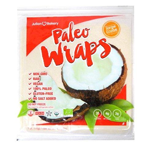 Julian Bakery Paleo Wraps Gluten Free Coconut Wraps, 7 Count (Julian Bakery Coconut Bread compare prices)