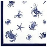 Durable Hand Woven 100% Cotton Silk Screen Print Nautical Tablecloth 60x60