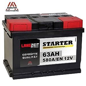 LANGZEIT Autobatterie 12V 63Ah ersetzt 60Ah 54Ah 55Ah 56Ah 62Ah 65Ah by LANGZEIT