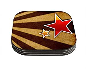 Snoogg Star fan art Pack of 4 Square Table Coasters / Table and Kitchen Accessories available at Amazon for Rs.399