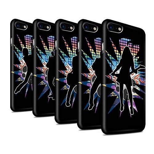STUFF4 Matte Duro Snap On Custodia/Cover/Caso/Cassa del Telefono per Apple iPhone 7 / Pack (24 disegni) / Rock star posa disegno