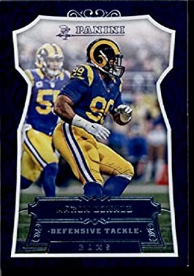 2016 Panini #197 Aaron Donald Los Angeles Rams Football Card in Protective Screwdown Display Case