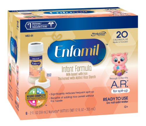 Enfamil A.R. Nursette 20 Calorie Ready To Use 2 Fl. Oz. 6-Count (Pack Of 8) (Packaging May Vary)