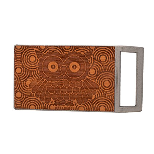 Buckle Rage Adult Unisex Wood Hipster Owl Vintage Belt Buckle Antique Silver