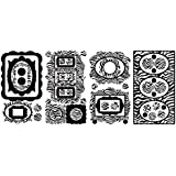 RoomMates RMK2022SCS Zebra Frames Peel and Stick Wall Decals