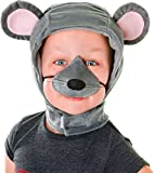 Childrens Grey Mouse Fancy Dress Costume Kit - Hood & Nose Set Nativity Animal