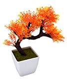 Fourwalls Miniature Artificial Drooping Tree in a Melamine Vase (Orange)