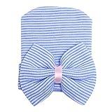 Sombrero de Bowknot rayas Gorro para Beb� Reci�n Nacido,Color azul