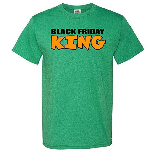 Inktastic Black Friday King T-Shirt X-Large Retro Heather Green