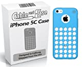 iPhone 5C Case, 5C Case- Phone Case 5c Soft Skin Case For The New iPhone 5C In Retail Package - Circle Colors - Dots Holes - Shell - Skin Cover Designed And Shipped From The USA By Cable and Case® - Blue 5C Case