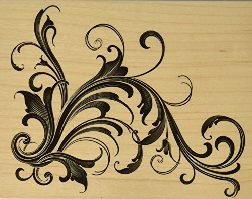 Hero Arts Mounted Rubber Stamps, 4.5 by 5.75-Inch, Fabulous Flourish