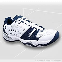 Prince T22 Women`s Team Tennis Shoes White Navy 9.5 Blue