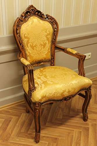 Sedia da pranzo antico stile barocco Goldredcoloredr tessuto