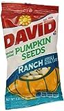 David Seeds Pumpkin Seeds, Ranch Flavor, 2.25 Ounce (Pack of 12)