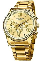 Akribos XXIV Men's AK736YG Ultimate Swiss Multifunction Gold-tone Stainless Steel Bracelet Watch
