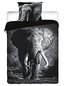 Elephant Wild Animal Single Twin COmforter Duvet Cover Bed Linen Set 100% Cotton