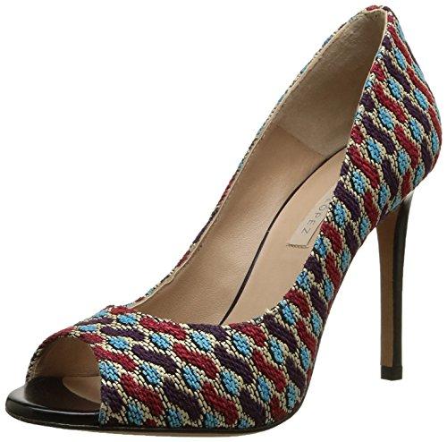 Pura LopezAh111 - Scarpe con Tacco Donna , Multicolore (Multicolore (Crazy-C2/Capretto Noir)), 41