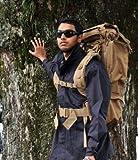 強靭ミリタリー タクティカル 防水 レインカバー 付  バックパック 35L 軍用 US 次世代アサルト ハイスペック ミリタリー リュック 本物の耐久性、機能性、実用性 旅行/アウトドア/登山/キャンプ に 災害避難時にも安心と信頼のミリタリーギア (ダークイエロー)TCbkpkDKYW